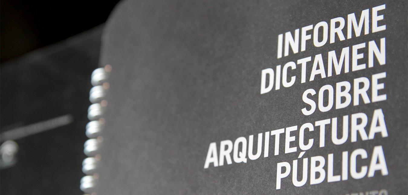 INFORME DICTAMEN ARQUITECTURA PÚBLICA